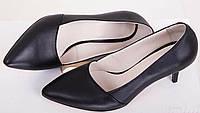 Женские туфли лодочки на невысоком каблуке Натуральная кожа Возможен отшив в других цветах кожи и замши, фото 1