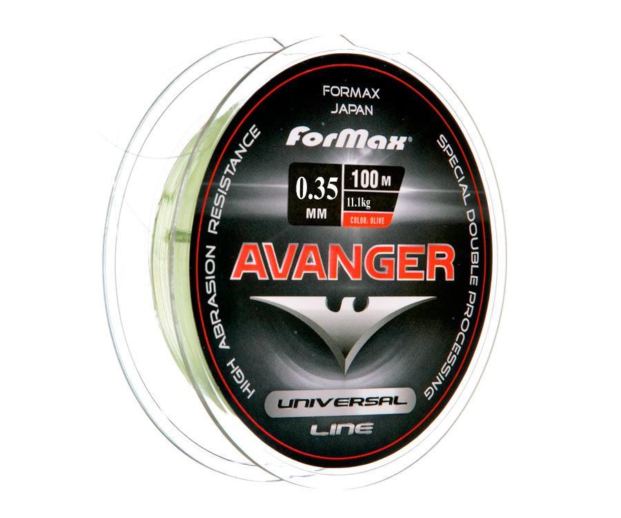 Леска ForMax Avanger Olive 100 м, 0,35 мм