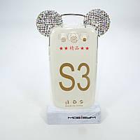 Чехол Silicon Mickey Diamond Samsung Galaxy S3 i9300