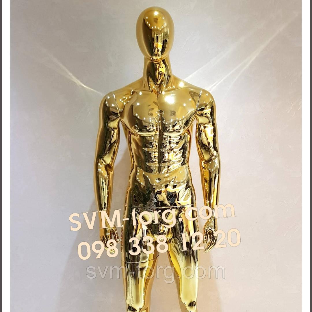 Манекен мужской хромированное золото