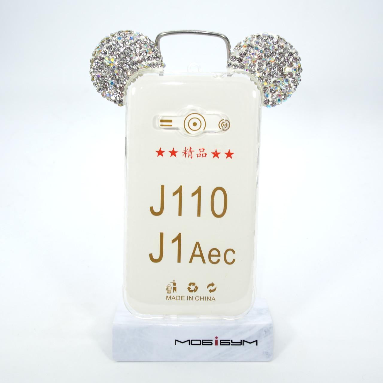 Чехол Silicon Mickey Diamond Samsung Galaxy J110