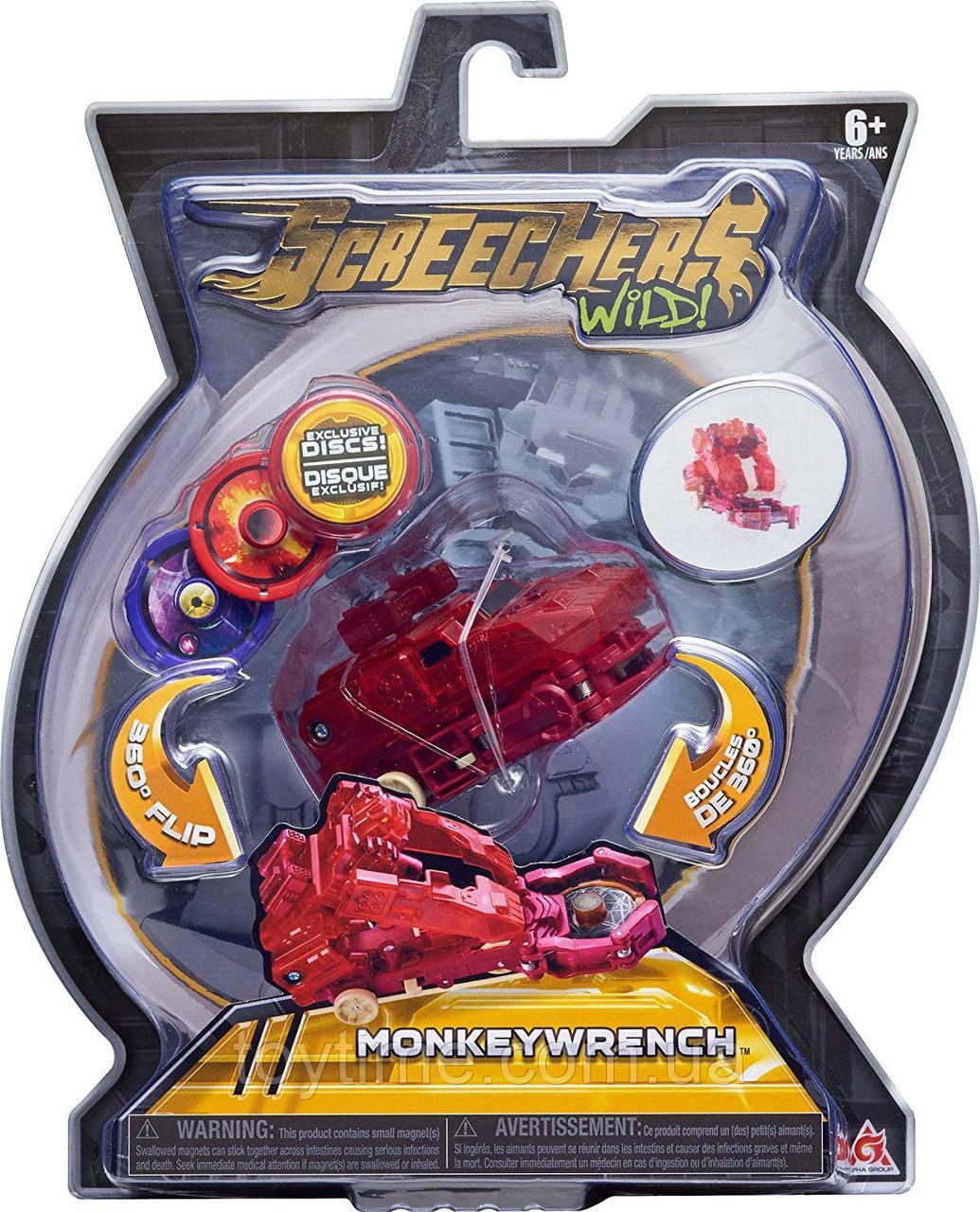 Машинка-трансформер Скричерс - МанкиРенч - Уровень 2 / Screechers Wild - Monkey Wrench - Level 2