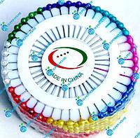 Игла с шариком, булавка швейная. Цветное ассорти. 3 набора в 1 коробке., фото 1