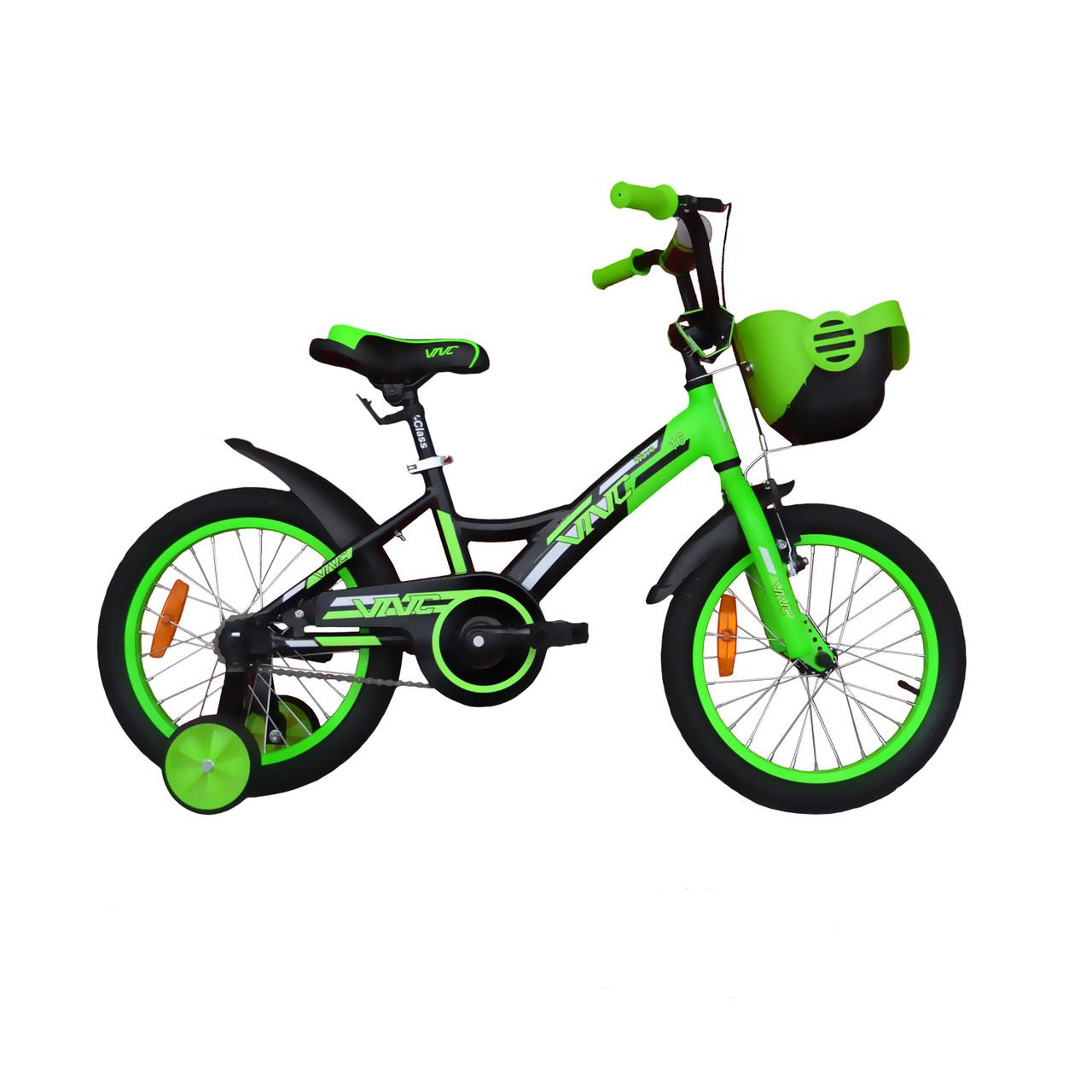 """Велосипед VNC 16"""" Wave, 1619-GA, Зеленый / Черный 8.5"""""""