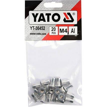 Заклепки резьбовые М4 20 шт. YATO YT-36452, фото 2