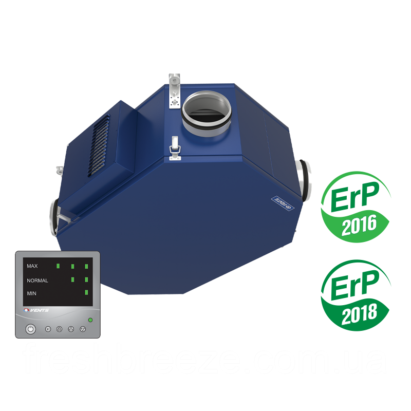 Приточно-вытяжная установка с рекуперацией тепла Вентс ВУЭ2 250 ПУ ЕС