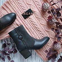 Женские ботинки на невысоком каблуке Натуральная кожа и замша Возможен отшив в других цветах