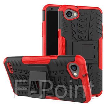 Противоударный двухслойный чехол Shield для LG Q6 / Q6a / Q6 Prime M700 с подставкой