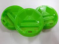 Крышка для бумажного стакана 71мм зеленая