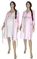 NEW! Теплые наборы для роддома и дома для беременных и кормящих мам - Amarant Soft Grey&Pink ТМ УКРТРИКОТАЖ!