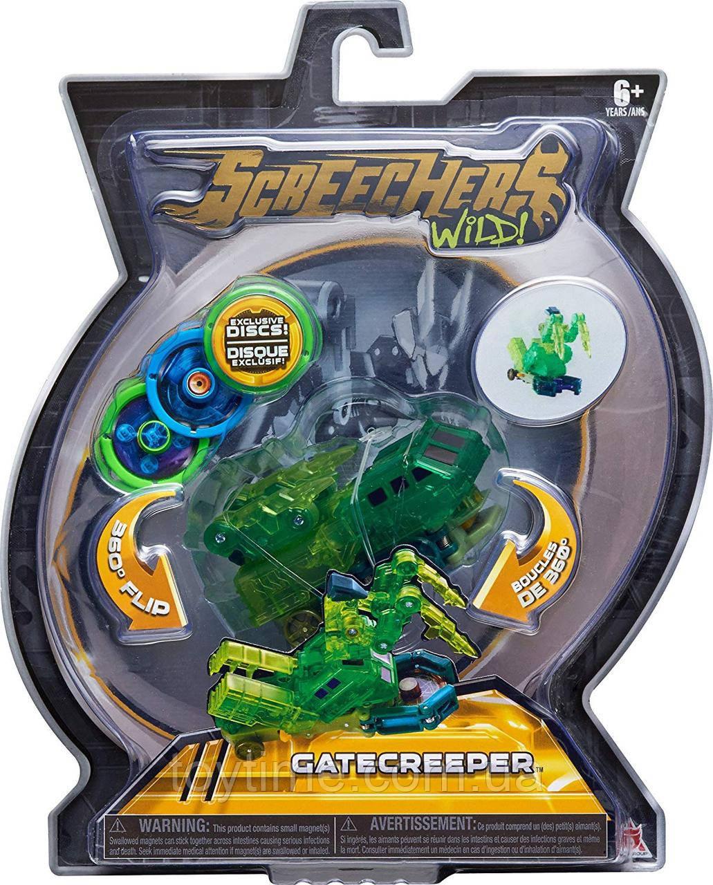 Машинка-трансформер Скричерс - Гейткрипер - Уровень 2 / Screechers Wild - Gatecreeper - Level 2