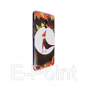 """Тонкий силиконовый чехол """"Сказочный лес"""" с прозрачными краями для Meizu Pro 6"""