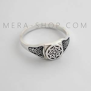 Валькирия серебряный перстень славянский оберег