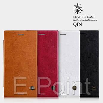 Кожаный чехол (книжка) Nillkin Qin Series для Sony Xperia XZ Premium