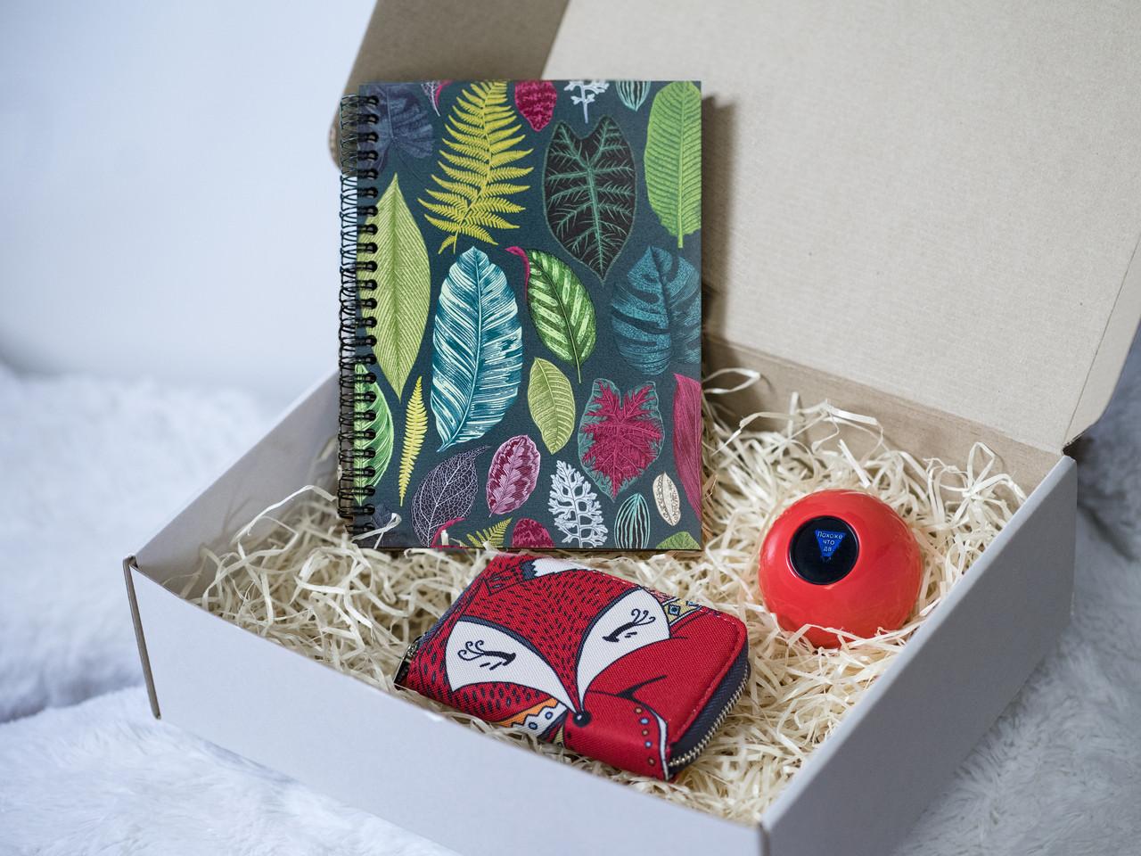 Подарочный набор (шар предсказатель, скетчбук, кошелек) №3