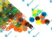 Шпульки пластиковые для бытовых швейных машин 20мм, 100 шт в упаковке. Разные цвета, фото 1