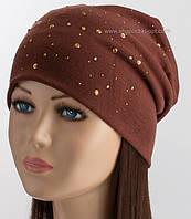 Стильная шапка колпак с стразами TRK-Марина