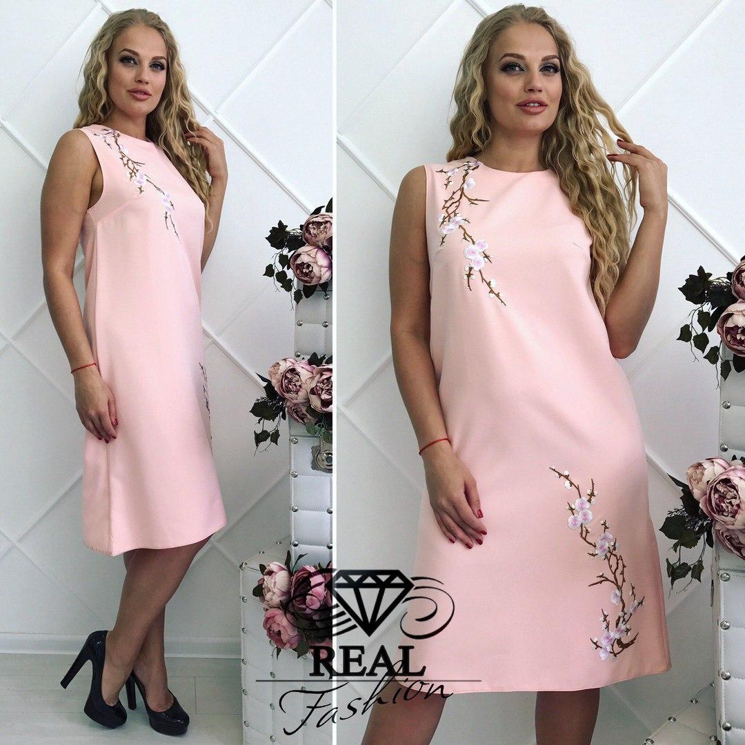 Женское стильное платье ЕО040(бат)