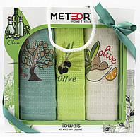 """Набір вафельних рушників для кухні """"Olive"""", 3 шт., 40х60 см (Туреччина)"""