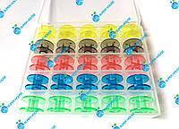 Шпульки для бытовых швейных машин 20мм пластик, 25 шт в боксе. 5 цветов, фото 1