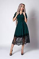 Нарядное женское платье с кружевом (2 цвета), фото 1