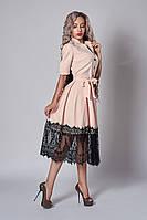 Нарядное женское платье с кружевом (3 цвета), фото 1