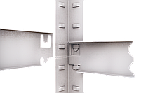 220х110х60, 250 кг на полку 5 полок ДСП/МДФ СТ-22 Стандарт полочный  на зацепах торговый оцинкованный на склад, фото 2