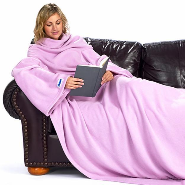Одеяло-плед с рукавами Snuggie (Снагги), плед-халат