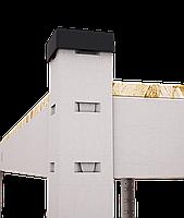 240х100х50, 250 кг на полку 5 полок ДСП/МДФ СТ-24 Стандарт полочный  на зацепах торговый оцинкованный на склад, фото 3