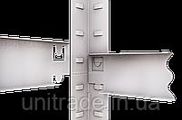 240х120х40, 250 кг на полку 5 полок ДСП/МДФ СТ-26 Стандарт полочный  на зацепах торговый оцинкованный на склад, фото 2