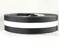 Лампас лента отделочная черно белая полоска 20 мм
