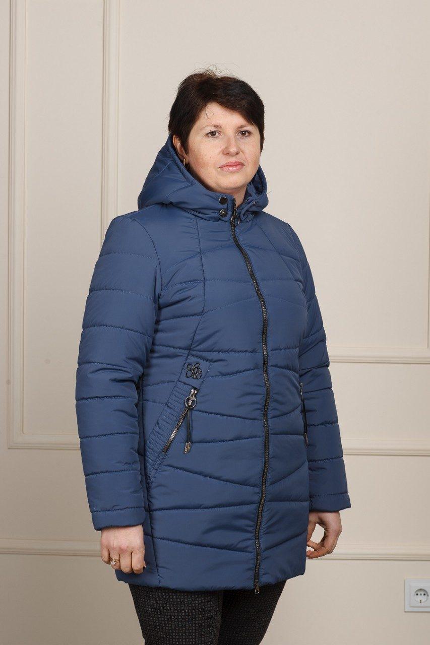 Весенняя женская куртка большого размера Нина