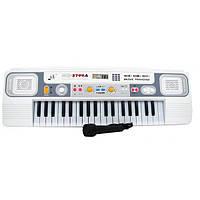 Детское белое пианино с микрофоном (37 клавиш)