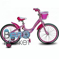 """Велосипед детский Crossride Vogue and classic 20"""" розовый с корзинкой"""