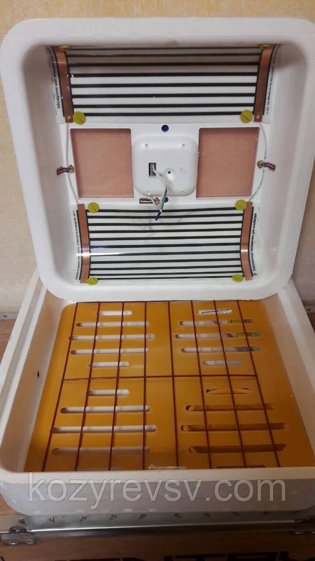 Инкубатор Рябушка Smart 70 яиц аналоговый/цифровой с механическим или ручным переворотом,инфракрасным награт