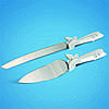 Нож и лопатка для нарезания свадебного торта декорированные бабочками