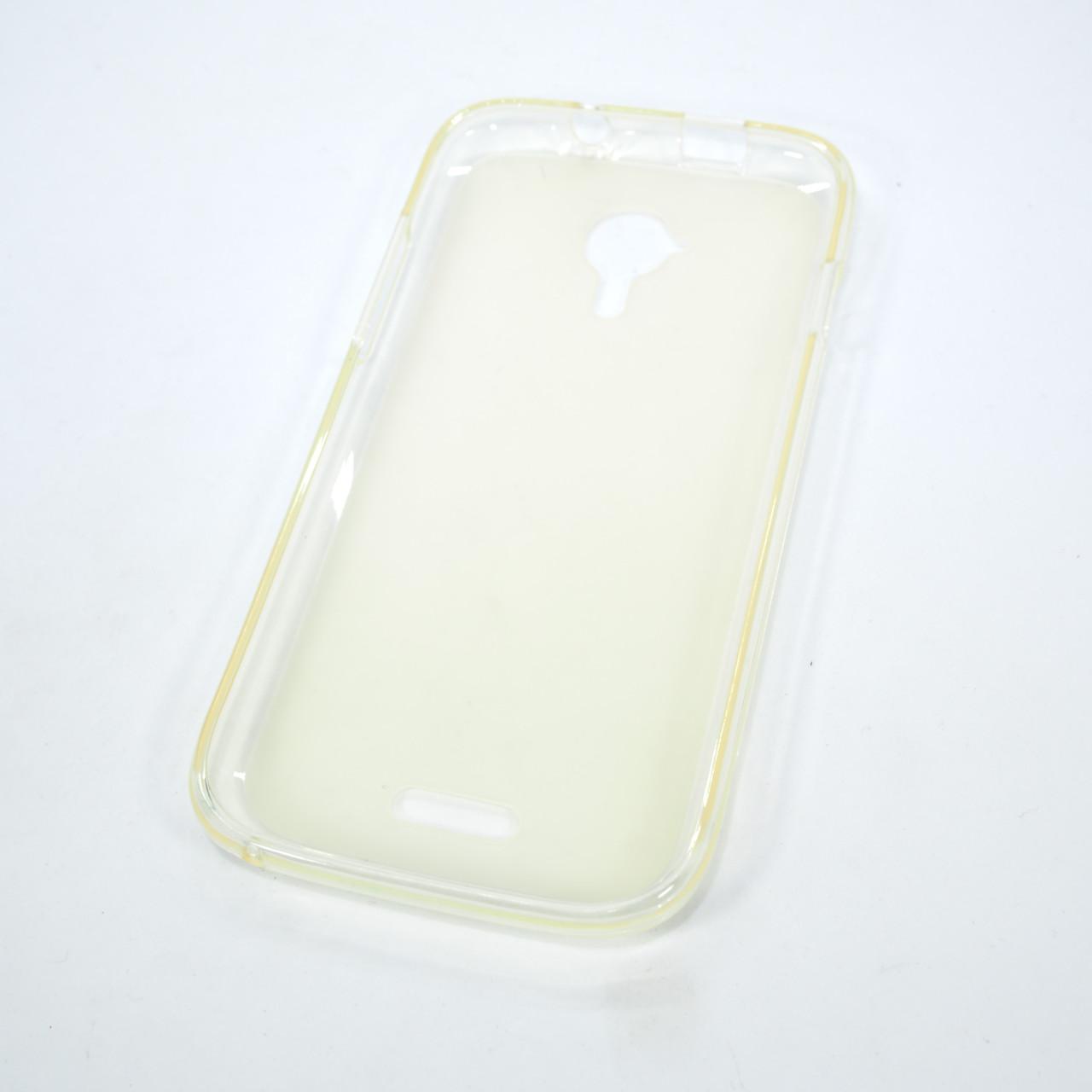 Чехлы для Fly Silicon New Line X iQ450 white