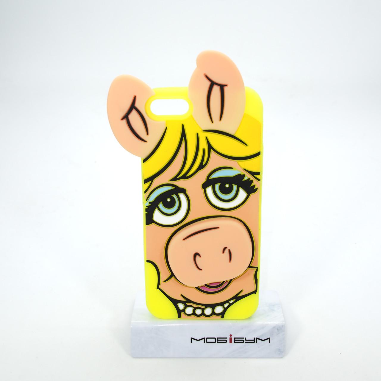 Чехол Silicon Moschino iPhone 5s/SE Pig yellow