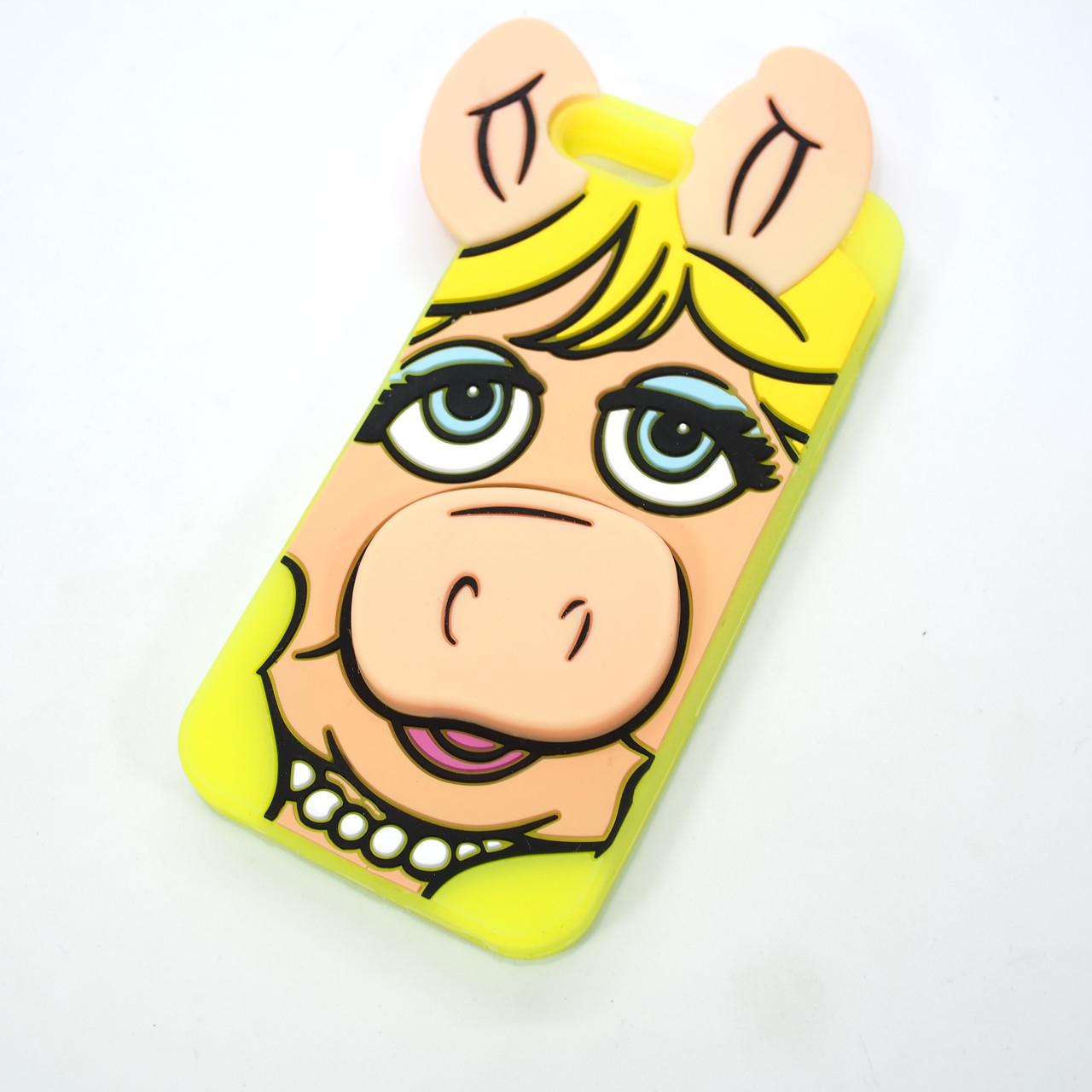 Silicon Moschino iPhone 5s SE Pig yellow Apple Для телефона