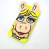 Чехол Silicon Moschino iPhone 5s/SE Pig yellow, фото 3