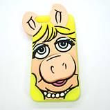 Чехол Silicon Moschino iPhone 5s/SE Pig yellow, фото 4