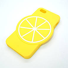 Чехол Silicone Fruit Phone 5s/SE Lemon, фото 3