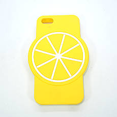 Чехол Silicone Fruit Phone 5s/SE Lemon, фото 2