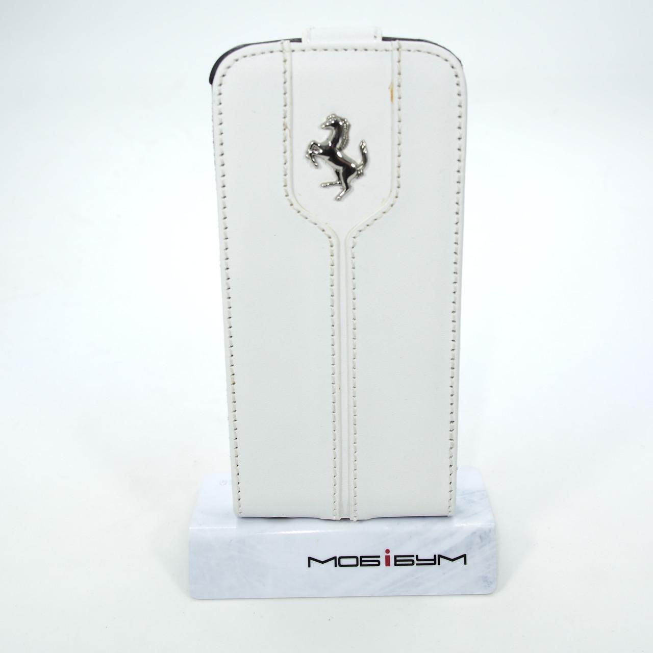 Чехол Ferrari Leather Flip Montecarlo iPhone 5s/SE white (FEMTFLP5WH) EAN/UPC: 370074031459