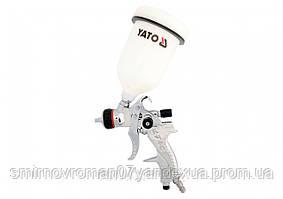 Пульверизатор YATO HVLP 1.4 мм с верхним баком 0.6 л