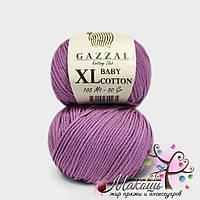 Пряжа Baby cotton XL Gazzal Бэби коттон XL Газал, 3414, сирень