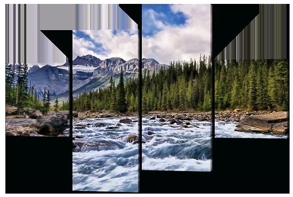 Модульная картина Interno Холст Горная река 146х100см (R436L)