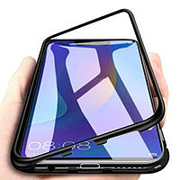 Магнитный чехол для Huawei P Smart plus бампер накладка Case Magnetic Frame черный