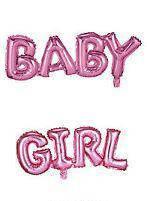 Фольговані слова BABY GIRL, бебі шауер