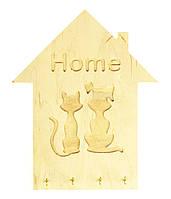 """Настенная деревянная ключница в форме дома """"Домашние Любимцы"""", ключницы в форме домиков"""